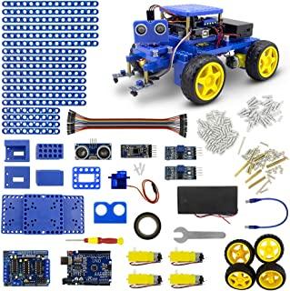 AITREASURE Smart Robot Car Chassis Kit Arduino Stem Robotics Engineering Toys with Remote Control Robotics Kit for Teens