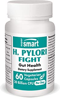 Supersmart - H. Pylori Fight 20 Billion CFU Per Serving - Contains Lactobacillus Reuteri (probiotic) - Relieves Acid Lifts...