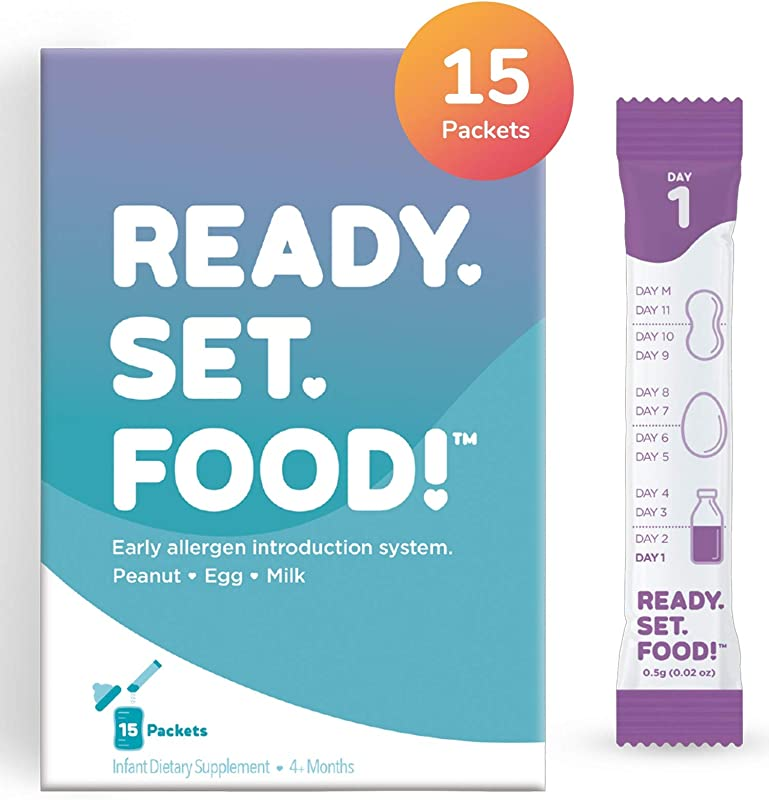 Early Allergen Introduction By Ready Set Food Add To Baby Food Milk Or Formula Reduce Baby S Risk Of Developing A Food Allergy Made With Organic Peanut Egg Milk Easy To Use Stage 1