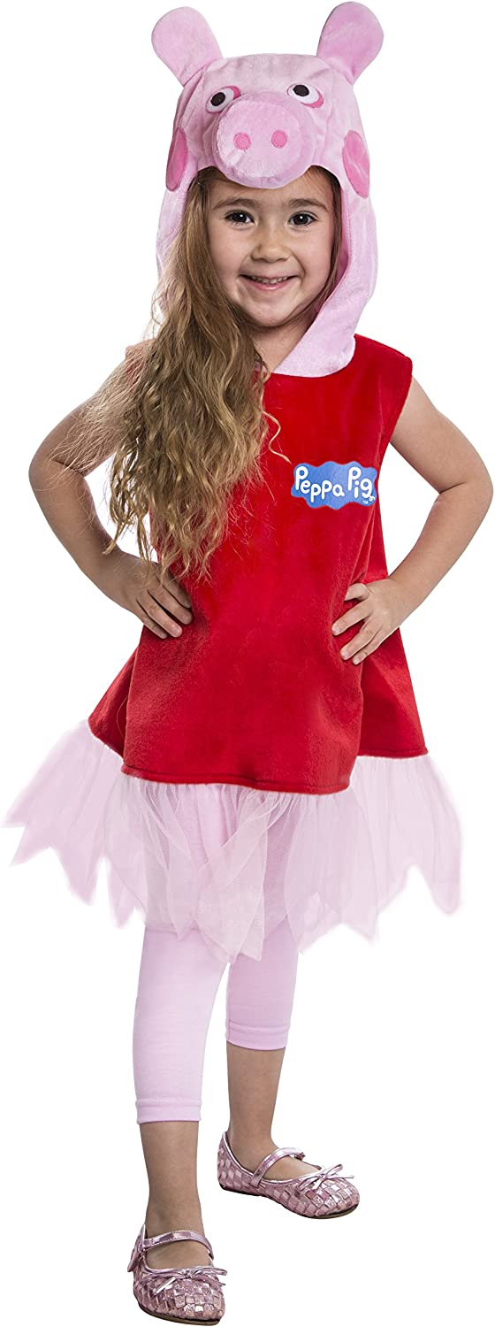 Peppa Pig Deluxe Toddler Costume Dress, 34T