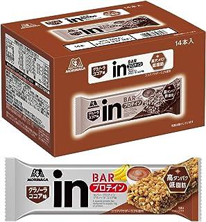【Amazon.co.jp限定】inバー プロテイン グラノーラ ココア (14本入×1箱) ココアとバナナの風味を楽しむグラノーラタイプ 高タンパク10g 低脂肪