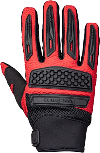 Royal Enfield Rover Gloves Red Large, 22 cm