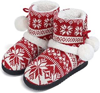 ChicNChic Women Cozy Plush Fleece Bootie Slippers Winter Indoor Outdoor House Shoes