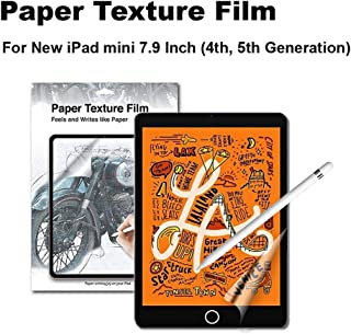Green Onions Supply Paper Texture Screen Protector for 2019 iPad Mini 5, 7.9 Inch Paper Screen/Anti-Glare/Matte/Made in Japan/Apple Pencil Compatible/Scratch Resistant/PET [1 Pack]