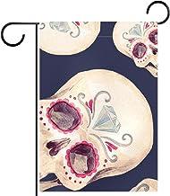 Tuinvlag, Decor Yard Banner Boerderij Outdoor Decoratie Roze Oog Schedel Verticaal 28x40 Inch