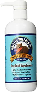 Grizzly Pollock Oil Omega-3 Dog Food Supplement 16 oz - Pack of 2