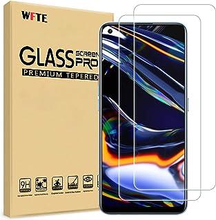 WFTE [2-pack] skärmskydd för OPPO Realme 7 Pro, anti-repor, hög transparens, anti-fingeravtryck, bubbelfri, dammfri premiu...