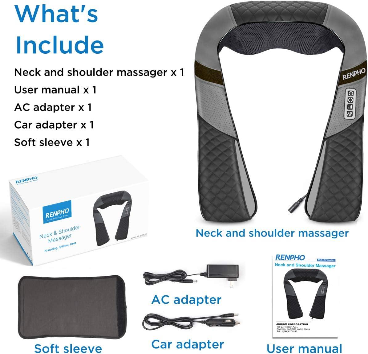 Lieferumfang des Renpho Nackenmassagegeräts