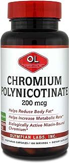Olympian Labs Chromium Polynicotinate, Chromate 200mcg