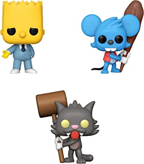 Funko Animation: POP! Simpson Collectors Set 4 - Mafia Bart, Itchy, Scratchy