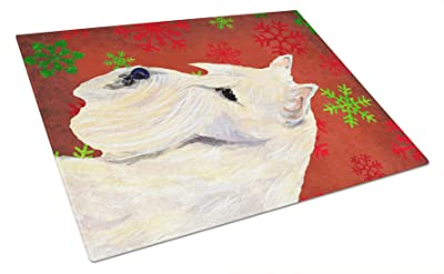 Multicolor Carolines Treasures SS8971LCB Fox Terrier Glass Cutting Board Large