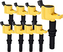 Heavy Duty Set of 8 Ignition Coils for Ford F150 F-150 F250 Expedition Explorer Mustang Lincoln Mercury 5.4L 4.6L 6.8L V8 V10 for DG511 5C1584 C1541