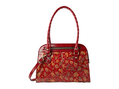 Patricia Nash Calvi Satchel (Rosso Fiore) Bags