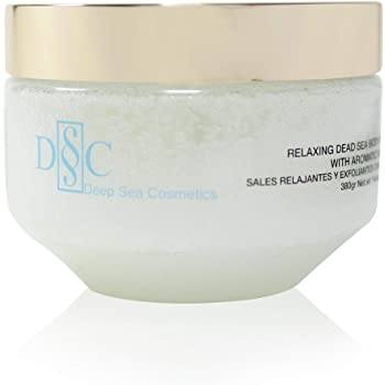 Deep Sea Cosmetics | Relaxing Dead Sea Body Salt Scrub | Body Scrub with Dead Sea Salt and Minerals, Aromatic Oils and Vitamin E - 14.4 Oz