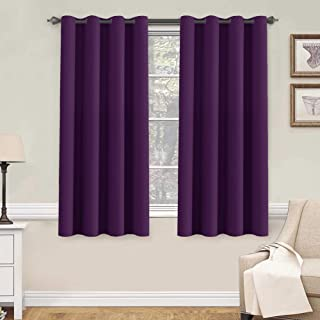 H.VERSAILTEX Window Treatment Blackout Thermal Insulated Room Darkening Solid Grommet Curtains/Drapes for Bedroom (Set of 2 Panels,52 by 63 Inch Long,Plum Purple)
