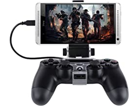 Megadream Angle View Adjustable Android Smart Phone Mount Bracket Storage Holder For Sony Ps4 Dualshock 4 Controller Gamepad With Otg Data Cable