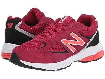 New Balance Kids GK888v2 (Big Kid) (New Crimson/Black) Boys Shoes