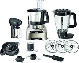 Moulinex Food Processor, 1200 watts, digital processor Double Force with stainless steel bowl, blender & chopper, FP828H27