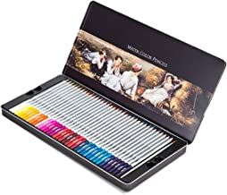 Professional Watercolor Pencils, Multi Colored Art Drawing Pencils in Bright Assorted Shades, Ideal for Coloring, Blending and Layering, Watercolor Techniques,Set of 60 Colors