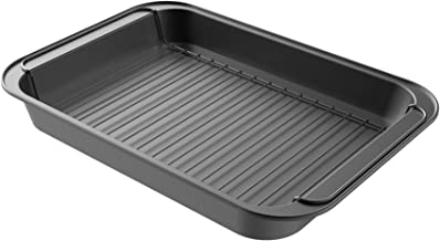 Classic Cuisine Roasting Pan with Rack Nonstick Oven Roaster with Removable Grid to Drain Fat and Grease-Healthier Cooking...