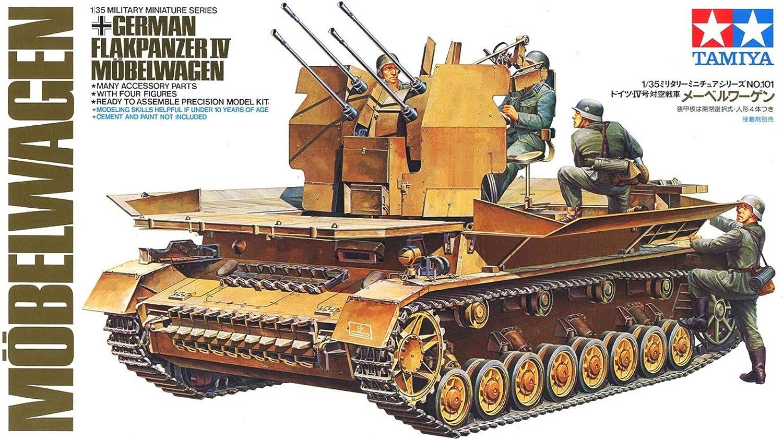 Tamiya 300035101 - 1:35 WWII German anti-aircraft tanks IV vans [4) : Amazon.co.uk: Toys & Games