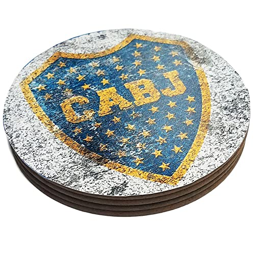 ab3d86cb9ba Four Round Coasters Glossy Custom Paint Effect Argentina Futbol Soccer  League
