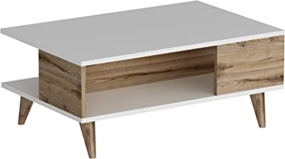 Bonamaison Coffee Table White Istanbul, Furniture for Living Room, Bedroom, Kitchen, Office - Designed and Manufactured in Turkey