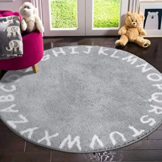 LIVEBOX ABC Kids Play Mat, Alphabet 4ft Round Area Rugs...