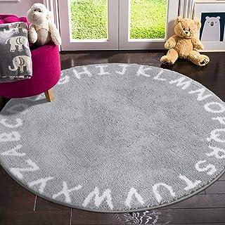 LIVEBOX ABC Kids Play Mat, Alphabet 4ft Round Area Rugs...