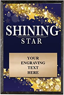 Crown Awards Corporate Plaques - 5 x 7 Shining Star Recognition Trophy Plaque Award Prime