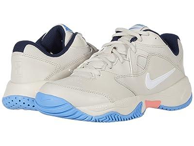 Nike Court Lite 2 (Light Orewood Brown/White/Royal) Women