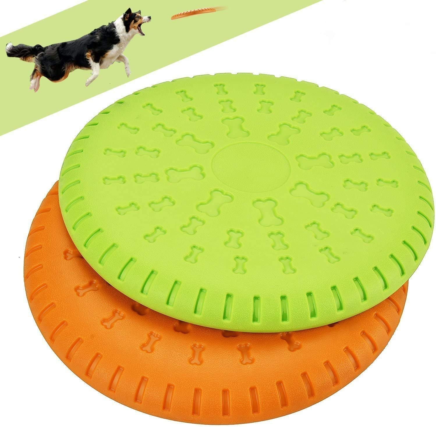 Legendog 2 4 years warranty Pcs Dog Flying Disc Rubber Ranking TOP4 Large D Catcher Toy 9 Inch