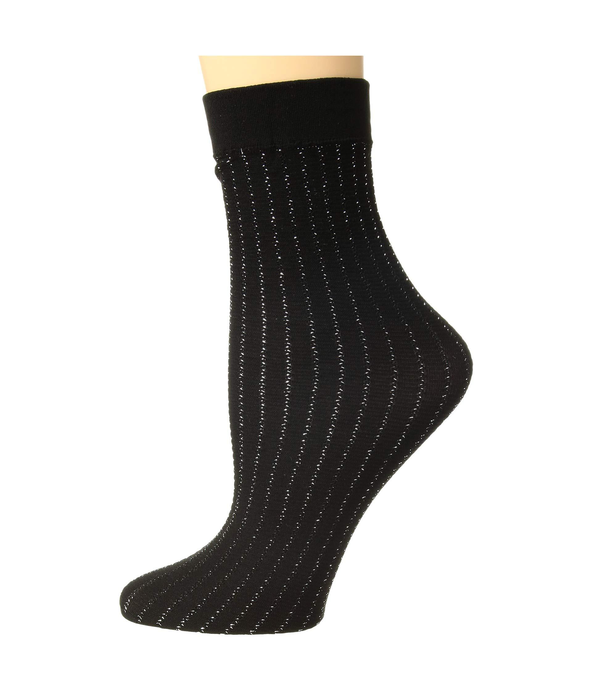 Sparkle Socks Black Stripe Wolford silver RSwUnq