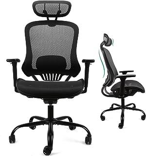 【正規品】Komene オフィスチェア 人間工学椅子 デスクチェア 135度リクライニングチェア 3Dアームレスト付き 通気性抜群 全メッシュチェア 調節可能ヘッドレスト ハイバック テレワークチェア 事務椅子 最大荷重135kg 事務用 ・自...