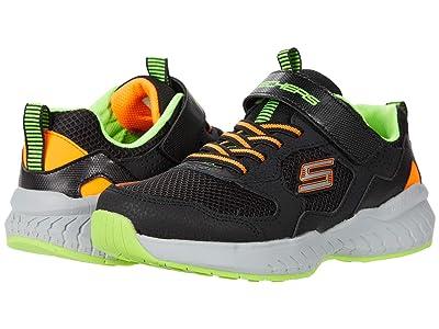 SKECHERS KIDS Sport Power Sonic 403623L (Little Kid/Big Kid) (Black/Gray/Orange) Boy