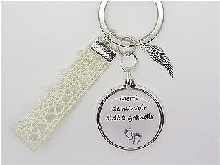 Porte Clés Personnalisable Nounou Bijoux de Sac cadeau personnalisable pour une Nounou une Maman une Sœur Merci de M'avoir...