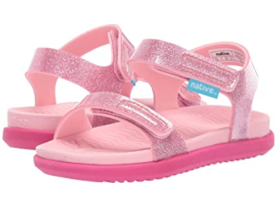 Native Kids Shoes Charley Glitter (Toddler/Little Kid) (Princess Pink Glitter/Princess Pink/Hollywood Pink) Girls Shoes
