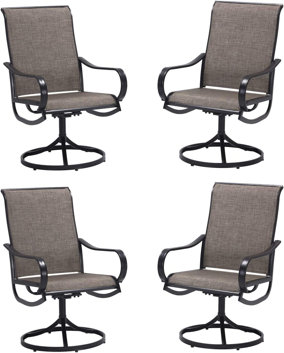 Super beauty product restock quality top VICLLAX Patio Chairs Set Max 79% OFF of Outdoor Swivel Dining 4 Metal