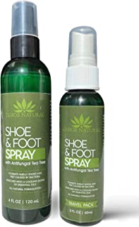 Shoe Deodorizer w/Travel Spray - Odor Eaters for Shoes - Essential Oil - Next Day Odor Eliminator for Work Boots - Tea Tree Smell Good - Air Freshener Spray - Shoe Odor Eliminator (Mint)
