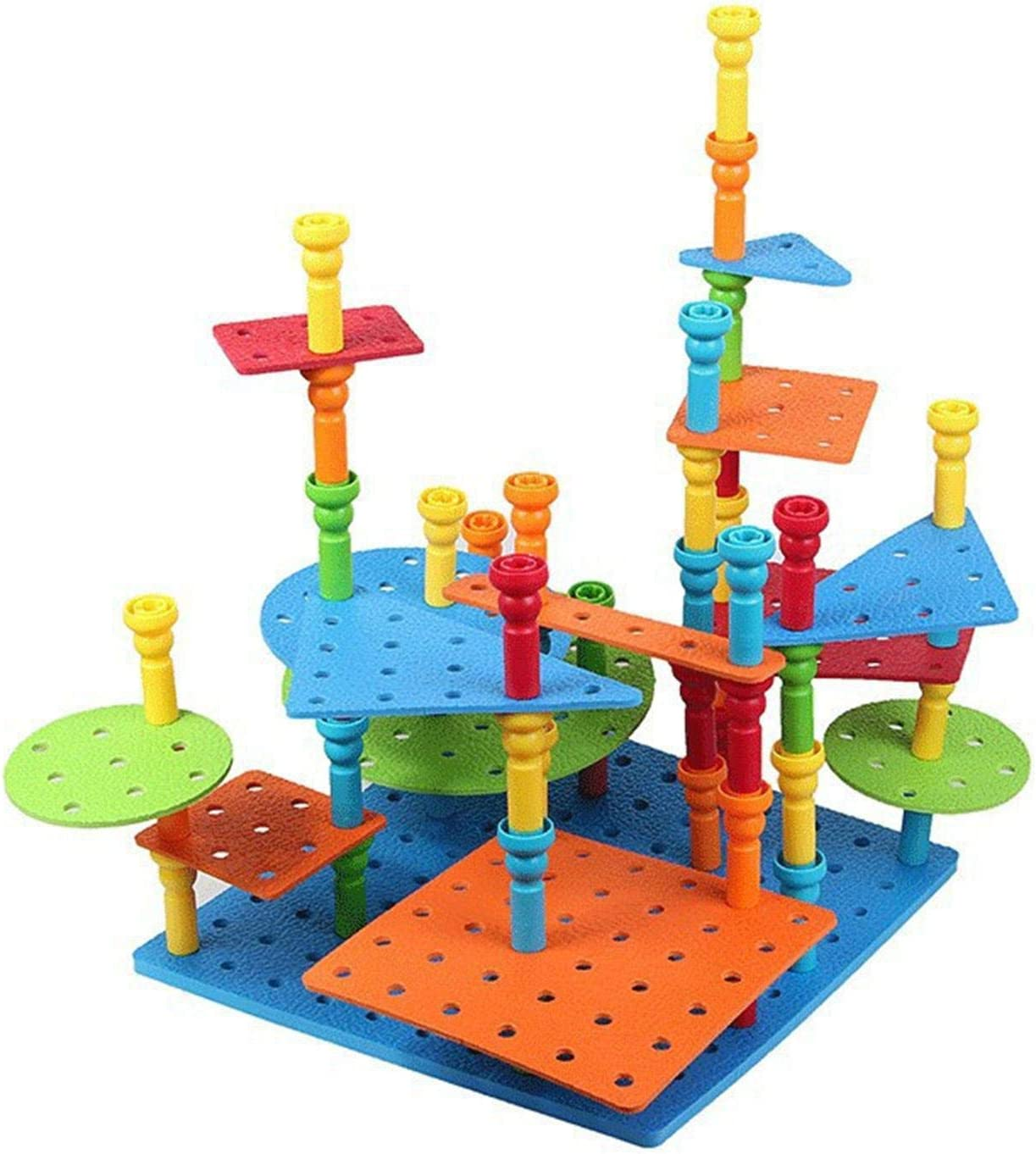 FEBUD Pegboard Game Peg Board Set Toy Max 58% OFF Stacking OFFer Mon