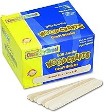 Chenille Kraft Natural Wood Craft Sticks, Jumbo Size, 6 x 3/4, Wood, Natural Wood, 500/Box (3776-01)