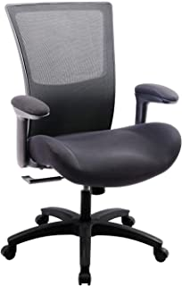 Boliss Ergonomic Office Computer Desk Chair,500 lbs Capacity,with Flip Up Arms and Waist Support Function - Black