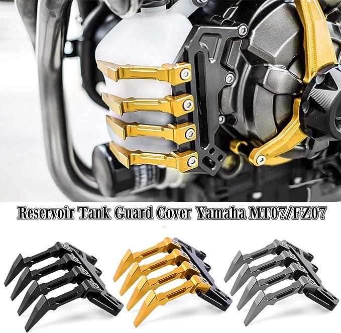 Fatexpress Motorcycle Aftermarket Cnc Aluminum Water Coolant Reservoir Tank Guard Cover For 2014 2018 Yamaha Fz 07 Mt 07 Fz07 Mt07 Fz Mt 07 2015 2016 2017 14 18 Gold Automotive Amazon Com