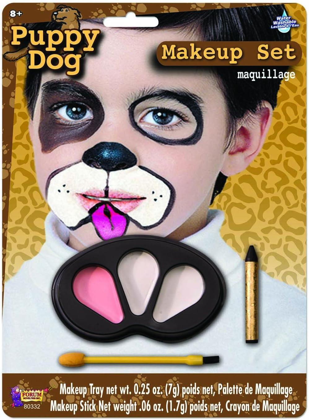 Dog Halloween Makeup.Amazon Com Forum Novelties Puppy Dog Makeup Kit For Children Halloween Animal Face Paint For Kids Toys Games