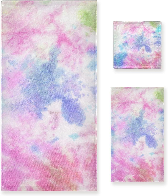 UMIRIKO 3 sale Limited time trial price Piece Towel Set Tie-Dye 1 Sets Color Towels Bath