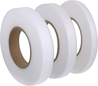 Miraclekoo 71 Yards No Sew Hemming Tape Fabric Fusing Tape Hem Iron-on Adhesive 4/5 Inch, 3/5 Inch, 1/2 Inch,3 Pieces