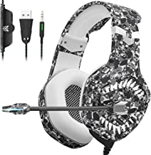 ONIKUMA Gaming Hedaset, Xbox One Headset with Noise Cancelling Mic & Stereo Surround..