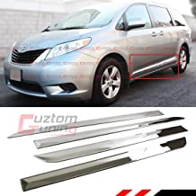 Fits for:2011-2017 Toyota Sienna LE XLE Polished Chrome Finish Stainless Steel Side Body Molding Moulding Trim Kit