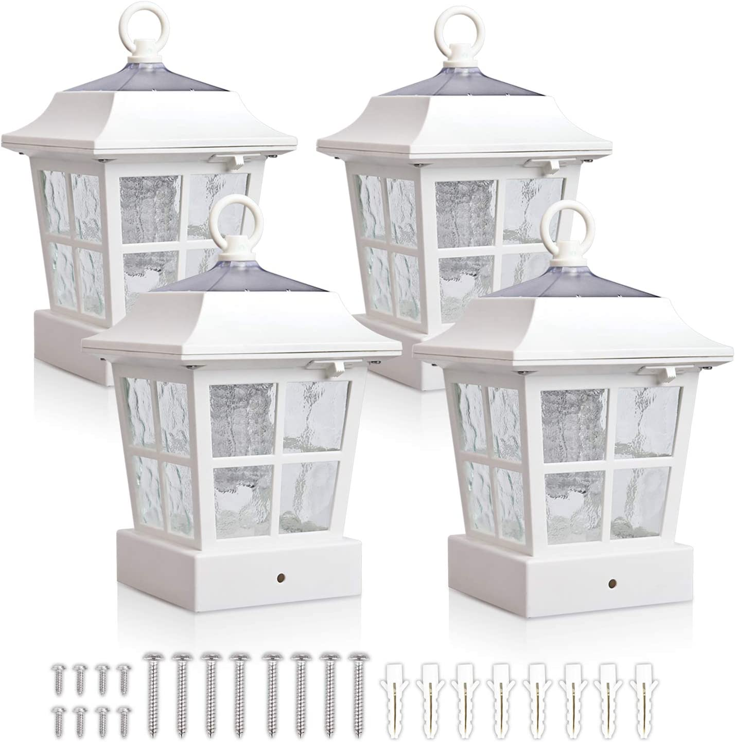 KMC Cheap mail order specialty store Special sale item LIGHTING KT130QFX4W Solar Post Lights Cap