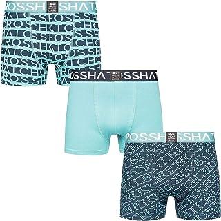 Crosshatch New Mens 3 Pack Boxers Shorts Trunks Gift Typeline Underwear Set S-XXL
